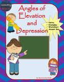 Geometry Worksheet: Angle of Elevation and Depression