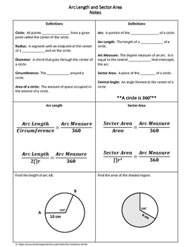 geometry worksheet arc length and sector area by my geometry world. Black Bedroom Furniture Sets. Home Design Ideas