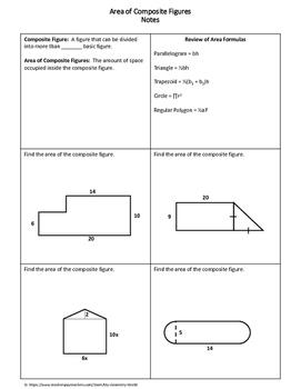 Geometry Worksheet: Area of Composite Figures