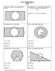 Geometry Worksheet: Area of Shaded Regions