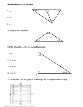 Geometry Worksheet: Classifying Triangles