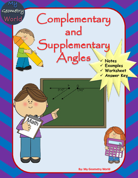 Geometry Worksheet: Complementary and Supplementary Angles