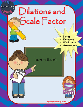 Geometry Worksheet Dilations And Scale Factor By My Geometry World