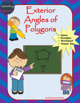 Geometry Worksheet: Exterior Angles of Polygons