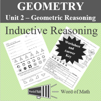 Inductive Reasoning Geometry Worksheets Teaching Resources