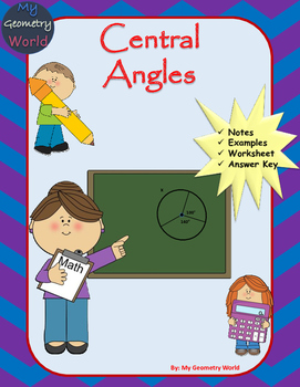 Geometry Worksheet: Central Angles