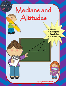 Geometry Worksheet: Medians and Altitudes