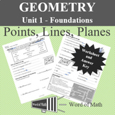 Geometry Worksheet - Points, Lines, Planes