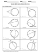 Geometry Worksheet: Secants - Vertex Outside the Circle