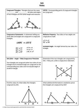 Geometry Worksheet: Side-Angle-Side
