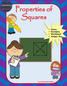 Geometry Worksheet: Squares