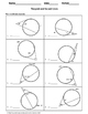 Geometry Worksheet: Tangent and Secant Lines