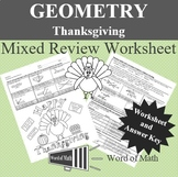 Geometry Worksheet - Thanksgiving Mixed Review