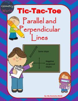 Geometry Worksheet:Tic Tac Toe - Writing Equations of Lines