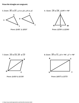 geometry worksheet triangle congruence proofs by my geometry world. Black Bedroom Furniture Sets. Home Design Ideas