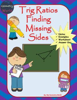 Geometry Worksheet: Trig - Finding Missing Side Lengths