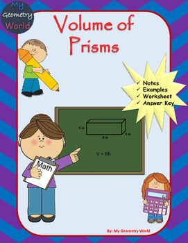 Geometry Worksheet: Volume of Prisms