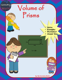 Geometry Worksheet: Volume of Prisms
