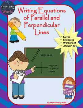 Geometry Worksheet: Writing Equations of Parallel and Perp