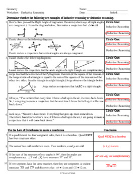 geometry worksheet and guided lesson notes deductive reasoning. Black Bedroom Furniture Sets. Home Design Ideas