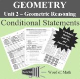 Geometry  Worksheet and Partner Activity - Conditional Statements