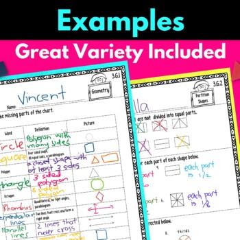 Third Grade Geometry Worksheets