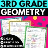 3rd Grade Geometry Worksheets   Third Grade Math Review