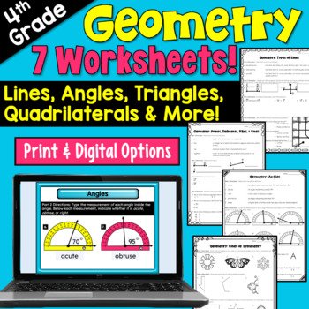 Geometry Worksheets (4th grade)