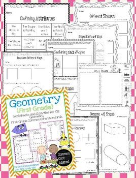Geometry Worksheets / Activities - First Grade Common Core