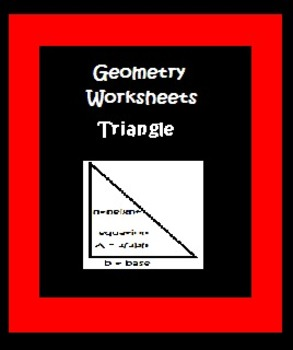 Geometry Worksheets Area of a Triangle