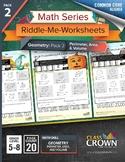 Geometry Worksheets Pack 2 - Perimeter, Area, Volume - Mat