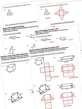 Geometry Worksheets & Test - 6th Grade