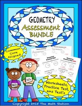 Geometry Worksheets & Test - 7th Grade