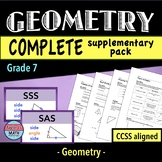 Geometry Worksheets and Word Wall