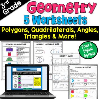 Geometry Worksheets Third Grade Teaching Resources   Teachers Pay ...