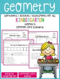 Geometry Worksheets/Activities - Kindergarten Common Core