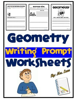 Geometry Writing Prompt Worksheets