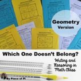 Geometry Writing in Math Activities Journaling