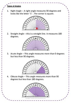 Geometry Year 4 - Using a Protractor