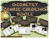 Geometry Zombie Coloring Pages  ~ Growing Bundle