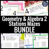 Geometry and Algebra 2 Stations Maze Bundle