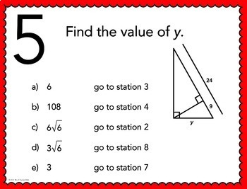 Geometry and Algebra 2 Stations Maze Bundle