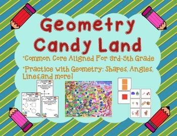 Geometry And Angles Candy Land Board Game For 3rd 5th