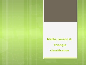 Geometry and Angles: Triangle Classification