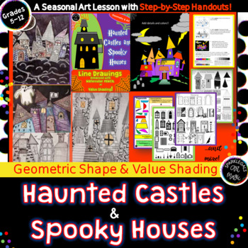 Haunted Houses and Spooky Castles-Geometry and Art!