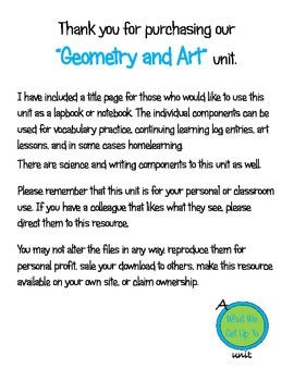 Geometry and Art Unit