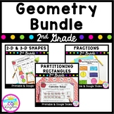 Geometry and Fractions Bundle  -2nd Grade Common Core 2.G.