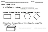 Geometry and Fractions Review Packet