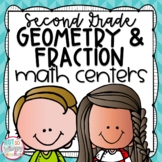 Geometry and Fractions Second Grade Math Centers