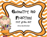 Guided Math-Geometry and Fractions Unit-EDITABLE